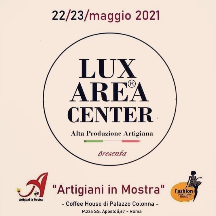 Lux Area Center- Artigiani in Mostra 22 e 23 maggio 2021-Coffee House- Palazzo Colonna